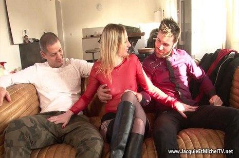 HD porn Eve déguste son trio – JacquieEtMichelTV