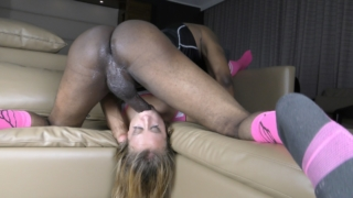Cheerleader Eats Black Athlete Ass & Endures Hard BBC For State! – Brooke Bliss