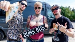 Tattooed German MILF Lady Kinky Cat eats jizz in steamy bus sex – Karenka – Lady Kinky Cat