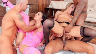 Interracial gang bang for hot babes – Cherry Kiss – Linda Moretti