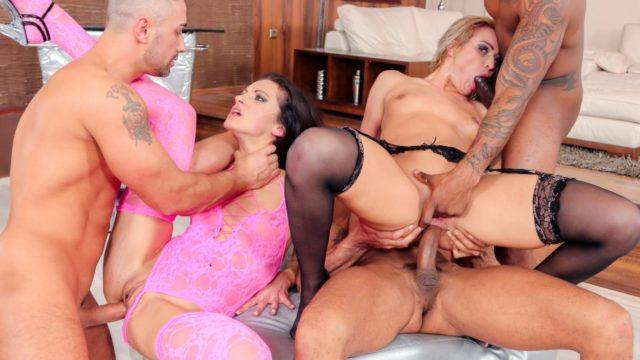 Interracial gang bang for hot babes – Cherry Kiss – Linda Moretti