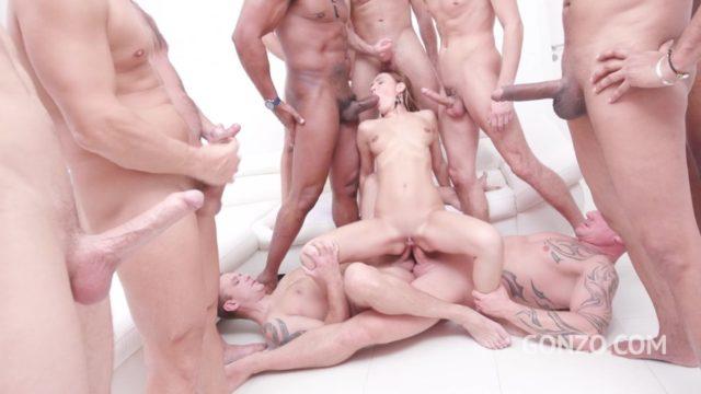 15-man anal gangbang with DAP – Timea Bella