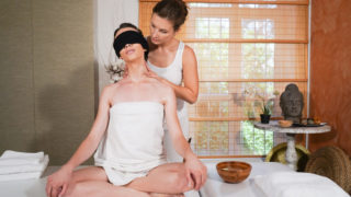 Erotic blindfold lesbian massage – Jenifer Jane – Adel Morel
